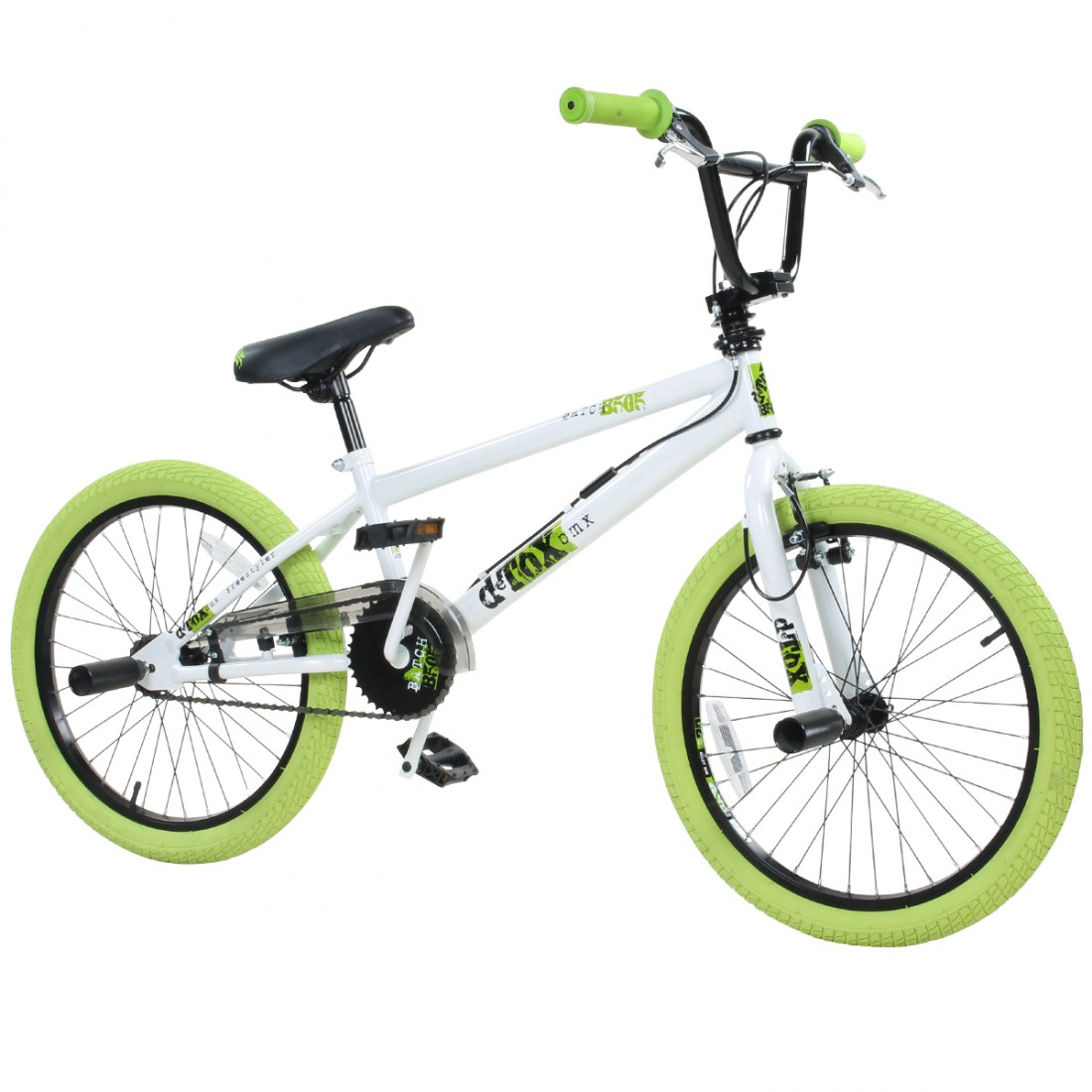 20 zoll bmx bike fahrrad freestyle kinderfahrrad kind rad detox 20 wei gr n ebay. Black Bedroom Furniture Sets. Home Design Ideas