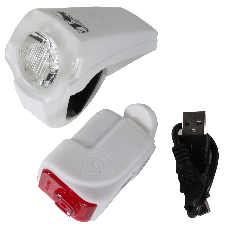 led akkulampenset batterielampe fahrrad licht vorne und. Black Bedroom Furniture Sets. Home Design Ideas