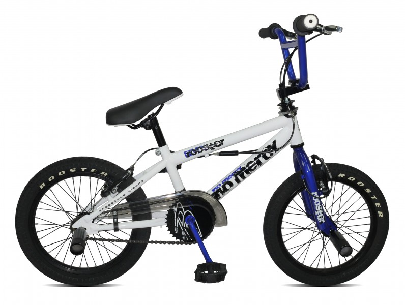 16 bmx kinder fahrrad 16 zoll rad 360 rotor freestyle pegs rooster no mercy ebay. Black Bedroom Furniture Sets. Home Design Ideas