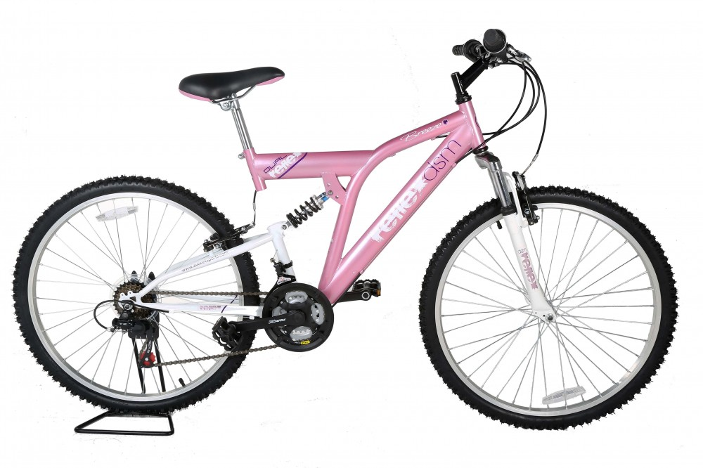 26 inch girls mtb mountain bike full suspension bicycle. Black Bedroom Furniture Sets. Home Design Ideas