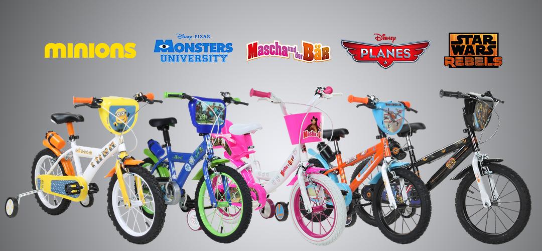 Kinderfahrräder mit tollen Motiven bekannt aus Film und Fernsehen